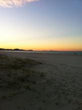 sunset over Kirra
