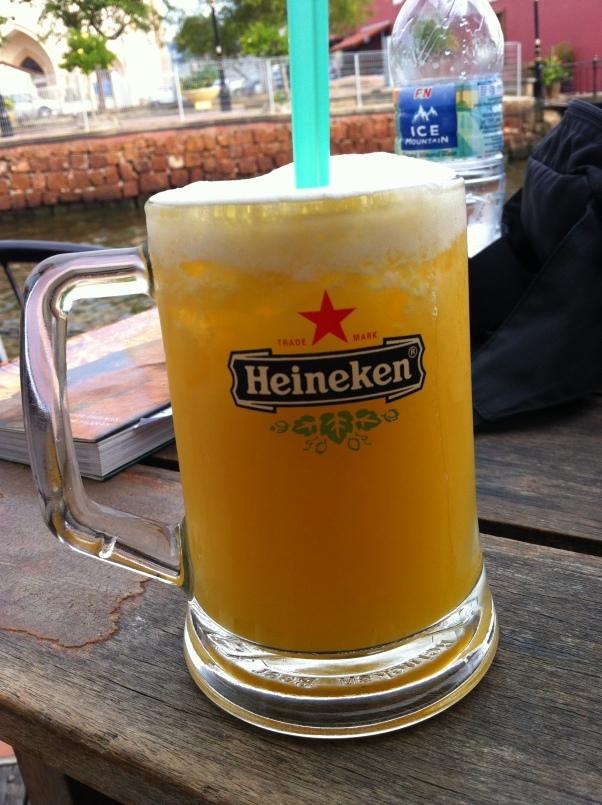 Beer? No. Pineapple juice