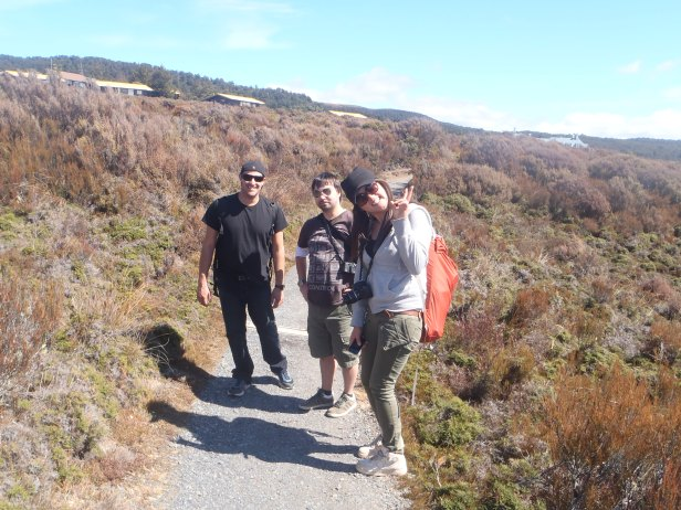 Mark, Andrew and Anna - trusty hiking partners